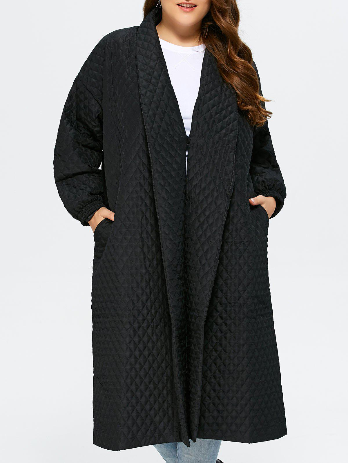 e24bccc7bb41e Outfit Back Slit Plus Size Quilted Jacket