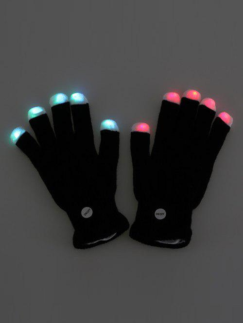 Unique Colorful LED Fingertip Lighting Gloves Party Prop Supplies