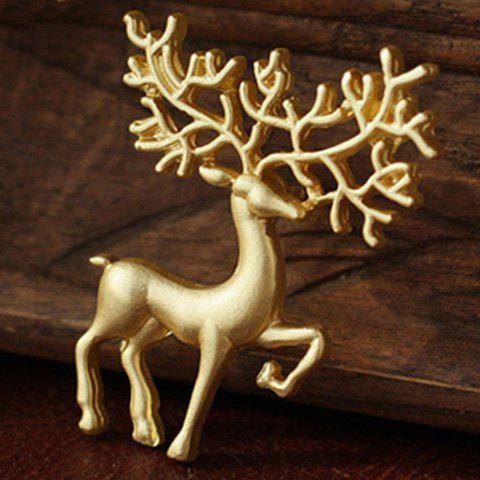 Christmas Sika Deer BroochJEWELRY<br><br>Color: GOLDEN; Brooch Type: Brooch; Gender: For Unisex; Style: Trendy; Shape/Pattern: Animal; Weight: 0.020kg; Package Contents: 1 x Brooch;