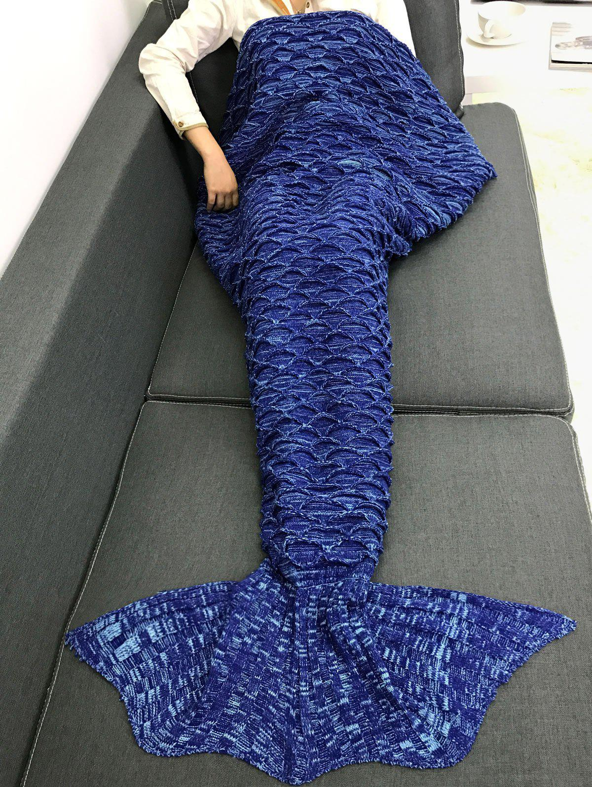 Latest Sofa Keep Warm Crochet Fish Scale Mermaid Blanket