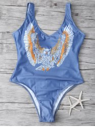 Owl Print One Piece Swimsuit