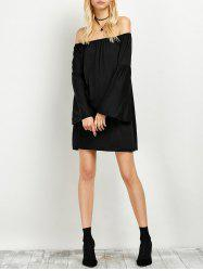 Bell Sleeve Off The Shoulder Dress