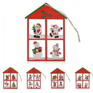 12PCS Snowman Christmas Decoration Supplies Hanging Pendants