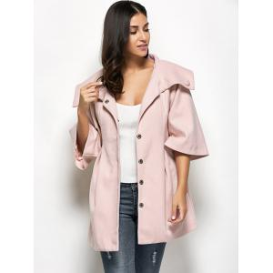 Flare Sleeve Button Up Coat -