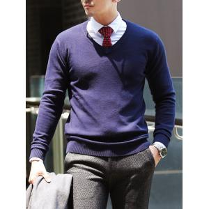 Slim Fit Pullover V Neck Knitwear
