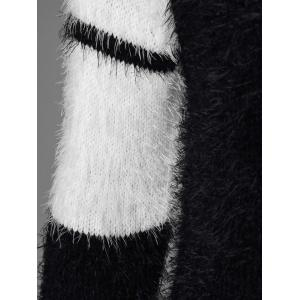 Striped Mohair Sweater - WHITE AND BLACK ONE SIZE