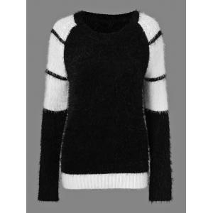 Striped Mohair Sweater - White And Black - One Size