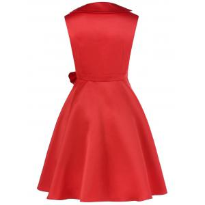 Bowknot Decorated Fit and Flare Dress -