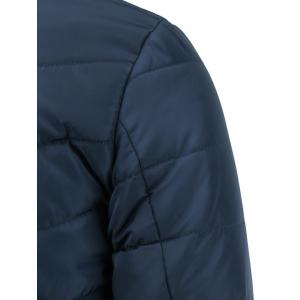 Number Print Zipper Design Stand Collar Thicken Down Jacket -