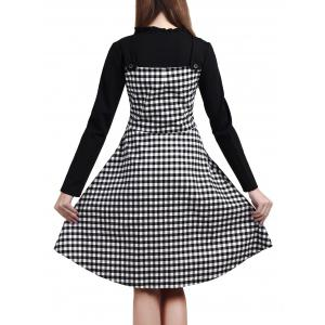 Plaid Pocket Fit and Flare Dress -