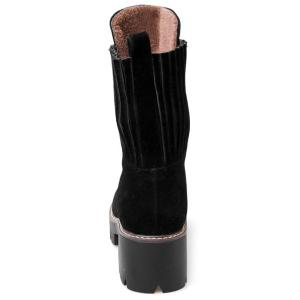 Zipper Stitching Platform Short Boots -