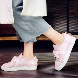 Bow Slip On Flat Shoes -