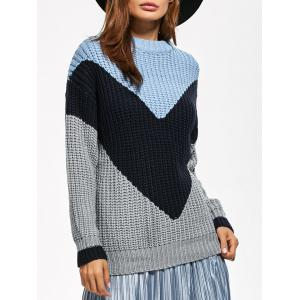 Fitting Chunky Color Block Sweater
