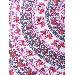 Ethnic Style Printed Circle Beach Throw -