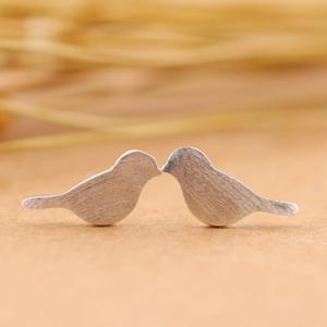 Birds Shape Stud Earrings