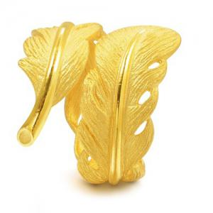 Leaf Shape Casual Cuff Ring -