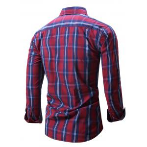 Plaid Chest Pocket Long Sleeve Shirt -