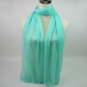 Lightweight Roses Jacquard Soft Yarn Shawl Wrap Scarf