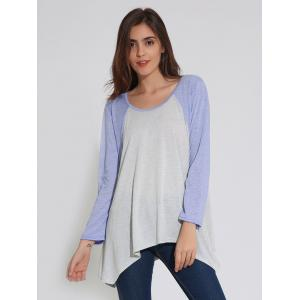 Raglan Sleeve Handkerchief Tunic T-Shirt