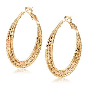 Carved Layered Hoop Earrings