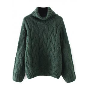 Cable Knit Turtle Neck Sweater