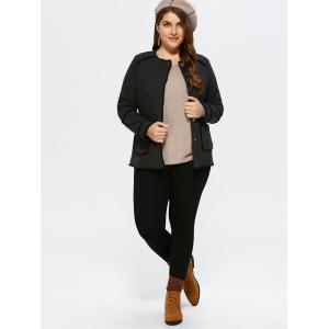 Plus Size Button Up Cardigan With Pocket -