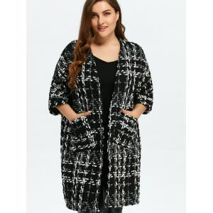 Plus Size Space Dyed Chunky Cardigan -