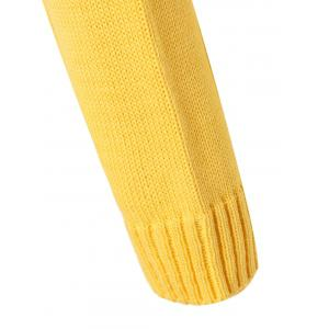 Plus Size Mock Neck Ribbed Sweater - YELLOW 2XL