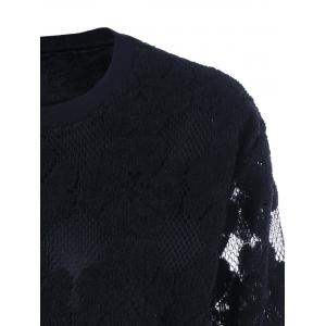 Plus Size Lace See Thru Sweater -
