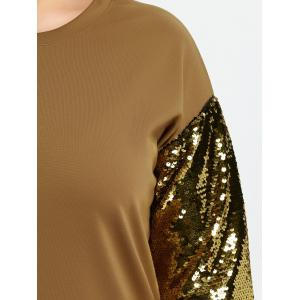 Plus Size Sequin Two Tone Shift Dress -