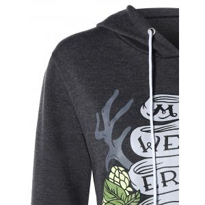 Graphic Pullover Hoodie - GRAY XL