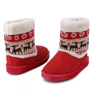 Christmas Knit Insert Snow Boots -
