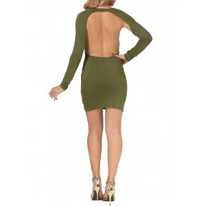 Cold Shoulder Open Back Bodycon Party Bandage Dress -