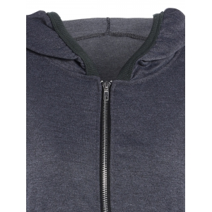 Wing Graphic Hooded Jacket - GRAY XL