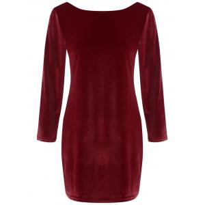 Backless Velvet Mini Dress