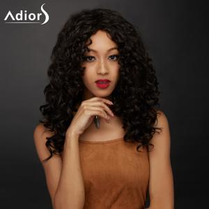 Long Side Parting Shaggy Curly Synthetic Wig