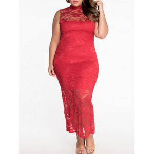Plus Size Bodycon Lace Prom Party Dress