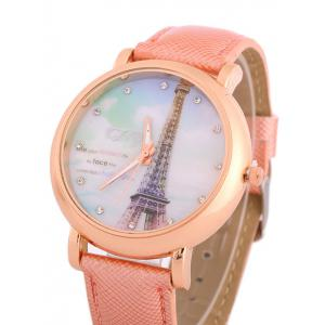 Rhinestone Eiffel Tower Quartz Watch -