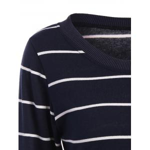 Slimming Long Sleeve Striped T-Shirt -
