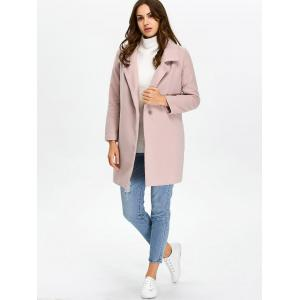 Pocket Lapel Overcoat With Snap Button -