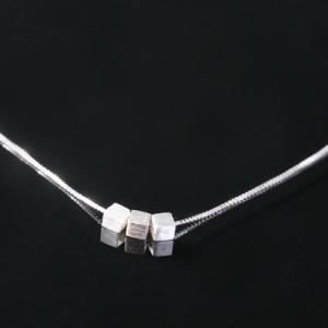Cube Pendant Necklace - SILVER