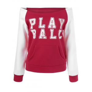 Off The Shoulder Play Ball Sweatshirt -