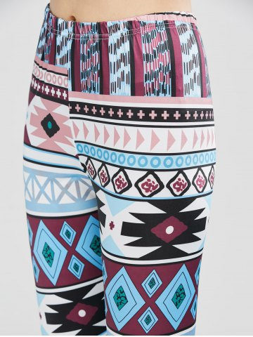 Trendy Geometrical Print Stretchy Leggings - XL GEOMETRIC PRINT Mobile
