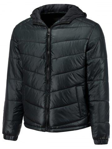 Shop Slimming Hooded Thicken Down Jacket