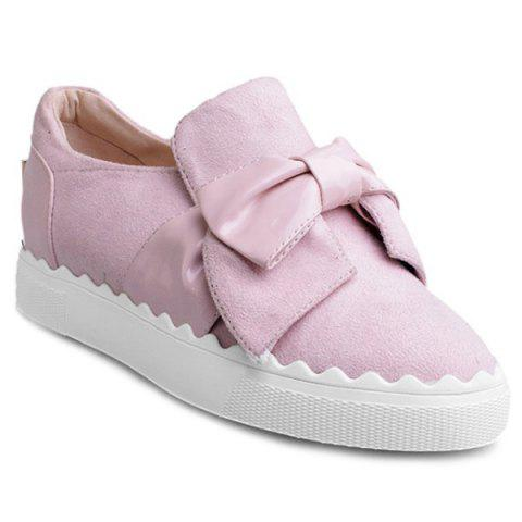 Sale Bow Slip On Flat Shoes