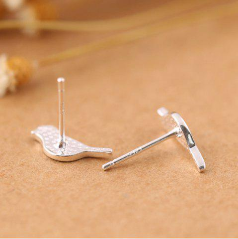 Shops Birds Shape Stud Earrings - SILVER  Mobile