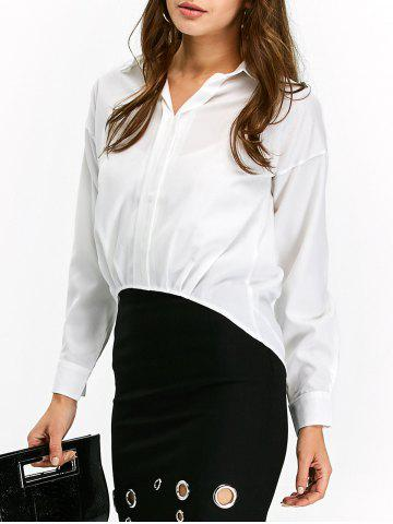 Discount High Low Pullover Chiffon Blouse
