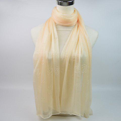 Lightweight Roses Jacquard Doux Fils Shawl Wrap Scarf
