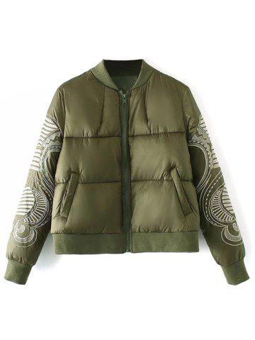 Buy Zip Embroidered Padded Jacket