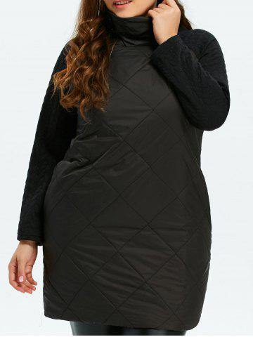Outfits Plus Size Padded High Neck Jacquard Shift Dress